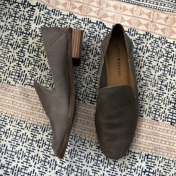 Lucky Brand Women/'s Cahill loafer flats Cafe luggage cognac Leather New With Box